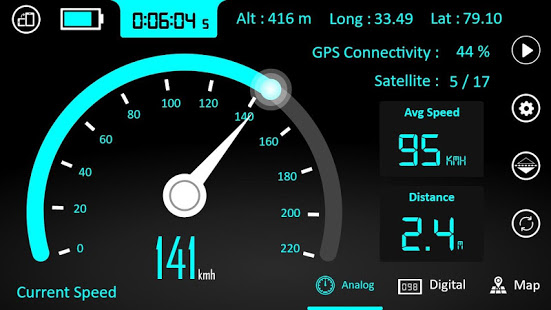Hız Göstergesi – GPS, Mesafe Ölçer , HUD uygulaması