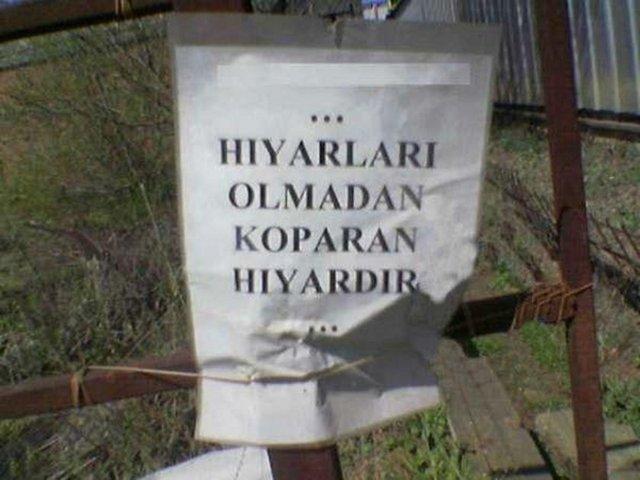 Türkiye'den Komik Panolar